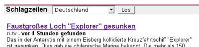 Loch mit Namen Explorer